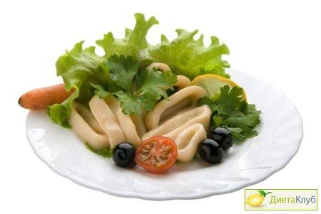 салат с кальмарами рецепт