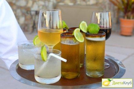 алкогольные калории, алкоголь диета